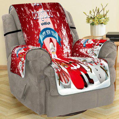 Christmas Decoration Kerstman Letter Print Sofa Cover