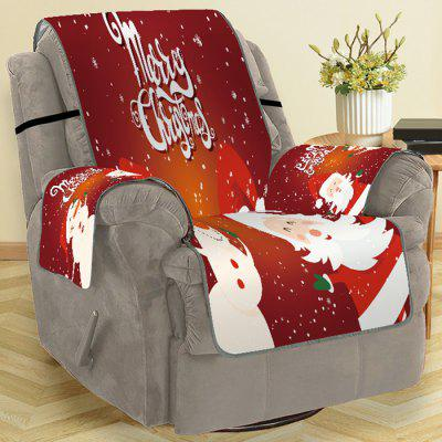 Christmas Style Santa Claus and Snowman Pattern Sofa Cover