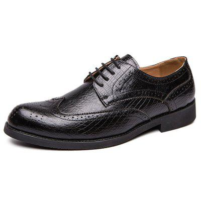 AIALDUN Men's Casual Shoes British Style Lace Up Business Shoes Bullock Carved
