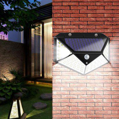 100/114 LED op zonne-energie SMD2835 LED PIR Motion Sensor Muur Trap Light Outdoor Garden Lamp 3 modes