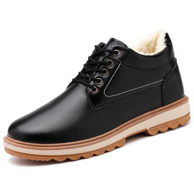 Men's Thickening Lace-up Snow Shoes Solid Color Simple Casual Boots