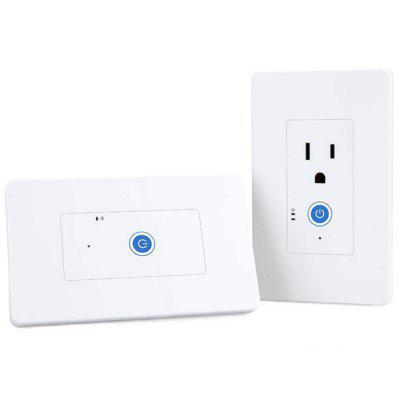 SONOFF IW101 WiFi Smart Power Monitoring Wall Switch App controle Werken met Alexa en Google Assistant