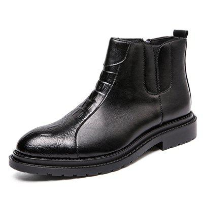 AILADUN Men High-top Moda Anglia Boots pantofi comozi anti-alunecare