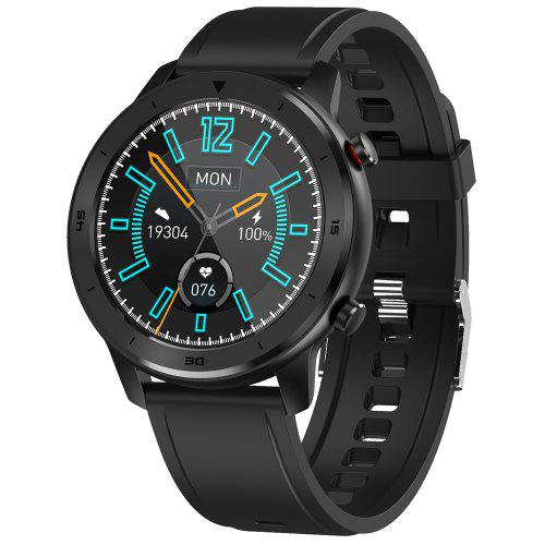 Gearbest DTNO.1 DT79 1.3 inch Full Round Wristband Health Care Fitness Tracker IP68 Waterproof Smart Sports Watch - Black