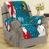 Christmas Decoration Letter Print Sofa Cover - PEACOCK BLUE