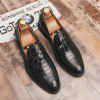 AILADUN Mannen Brush Off Bullock Slip-on Shoes Fashion Tassel Footwear - ZWART