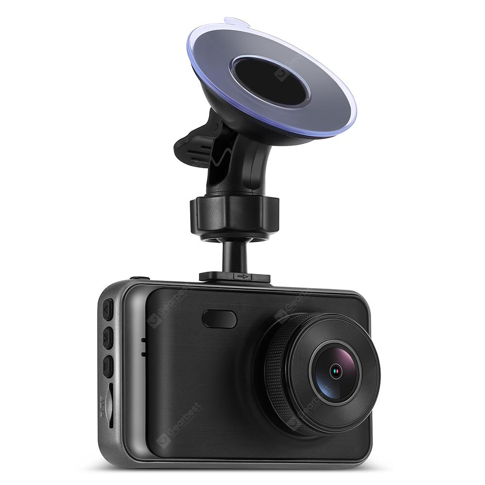 Tecney C900 3.0 inch 1080P HD Display Dash Cam Car DVR Recorder with Infrared Night Vision - Black
