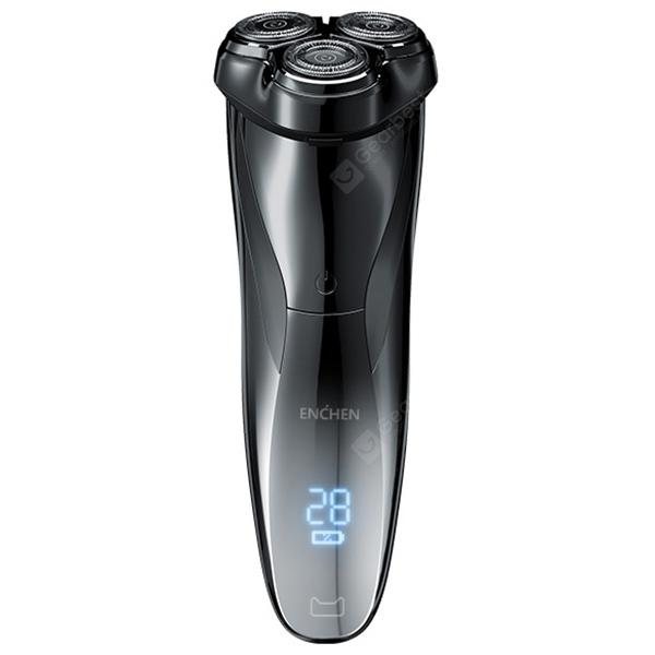 ENCHEN BlackStone3 LCD Washable USB Charging Wet and dry Electric Shaver - Black