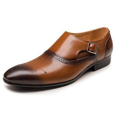 Men's England Bullock Style Business Stitching Leather Shoes Big Yards