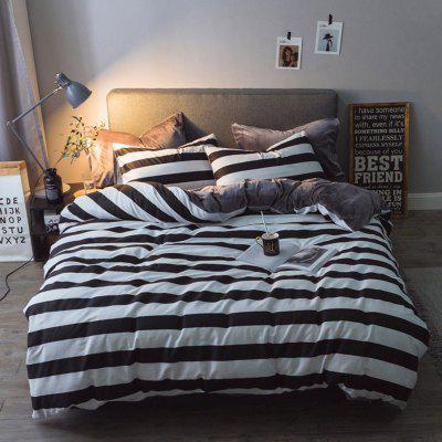 Autumn Winter Soft Comfortable Bedding Set Casual Print Bed Sheet