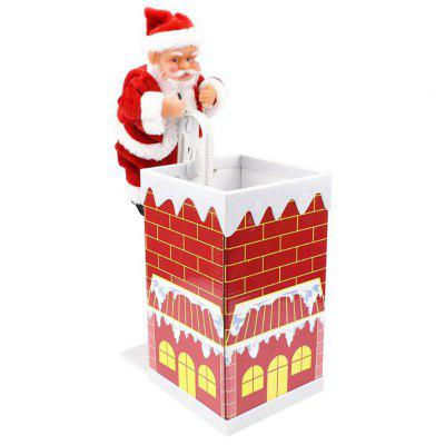 Santa Claus Climbing Down The Chimney Toy Electric Music Toys for Children