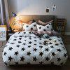 Autumn Winter Soft Comfortable Bedding Set Casual Print Bed Sheet - WARM WHITE