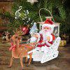 Cute Santa Elk Sleigh Electric Children's Toys Christmas Decorations - RUBY RED