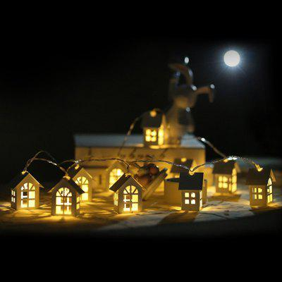 LED Christmas Decorative Witte Huis Shape Light String Nordic Style Holiday Lamp voor Garden Party Room Decor van het Huis 1.5m