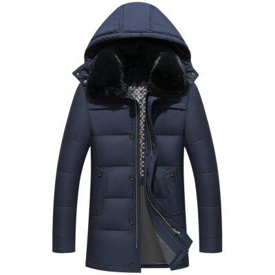Men' s Middle - Aged and Elderly Hooded Down Jacket
