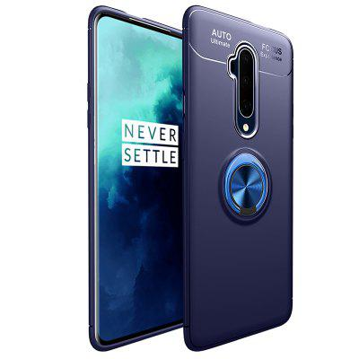 Business Style Invisible Ring Holder TPU Shell Drop Resistance Phone Case for OnePlus 7T Pro