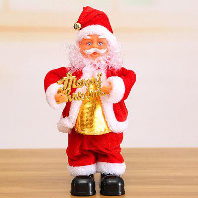 Christmas Series Electric Santa Claus Doll Mini Desk Decor Small Gift for Children, Adult