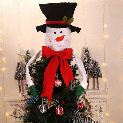 Christmas Series Tree Top Decoration Hat with Arm Santa Claus Snowman Pattern
