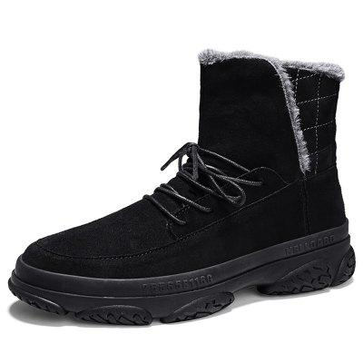 AILADUN Men's Shoes High-top Plus Velvet Warm Snow Boots Thick-soled Outdoor Casual Cotton