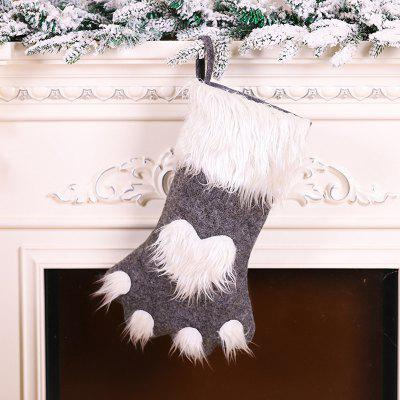 Christmas Series Cartoon Cat Claw Sock Cute Fluffy Decorative Pendant Gift Bags