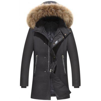 Fashion Casual Coat Lange Down Winter Heren