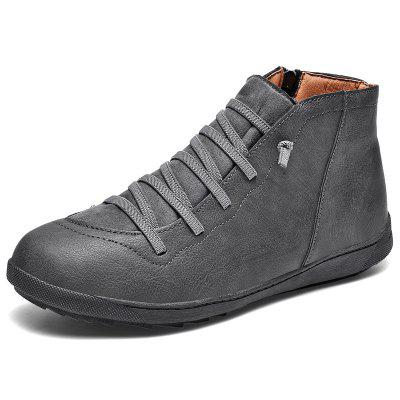 AILADUN Men's Boots Autumn Winter Middle Upper Casual Shoes Soft Bottom Shoes