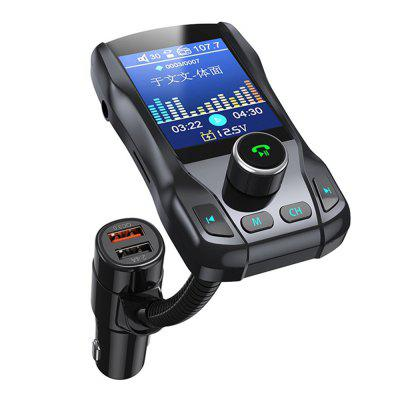 F39 1,77 inch ecran color auto Bluetooth Hands-free MP3 player USB încărcător fără fir transmițător FM