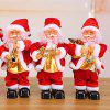Christmas Series Electric Santa Claus Doll Mini Desk Decor Small Gift for Children, Adult - RUBY RED