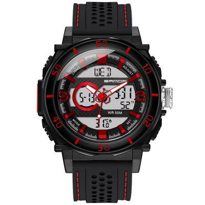 Sanda 760 horloges Mode Sport multifunctionele Dual Display elektronische horloges Heren Waterdichte Luminous