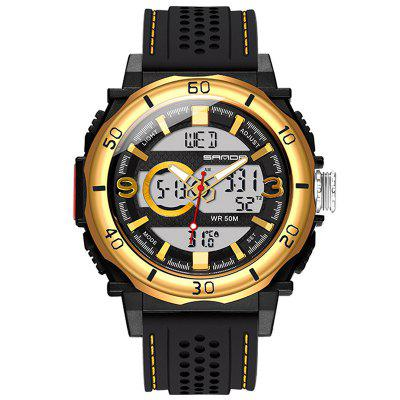 Sanda 760 Watches Fashion Sports Multifunction Dual Display Electronic Watches Men's Waterproof Luminous