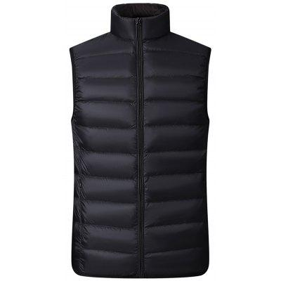 Mannen Winter Stand Collar omlaag Vest