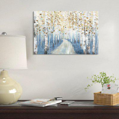 Seven Wall Arts PS158-A Blue Birch Woods Inkjet Printing Decorative Painting Framed Home Wall Decorations