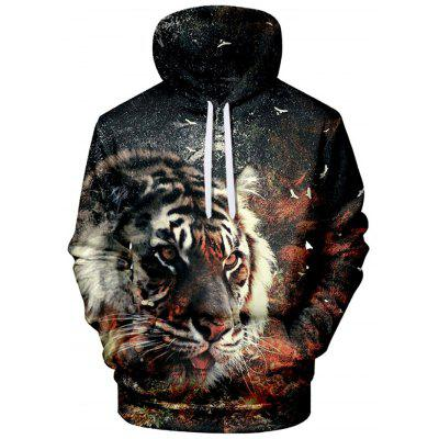 Mannen 3D Printing capuchon Straat Trend Personality sweater