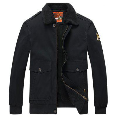 Men Plus Velvet Warm Work Jacket Cotton Coat