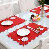 Christmas Series leuke Kerstman Decor Placemat met mes vork Cover Party Decoration Supplies - LAVA ROOD