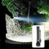 Asafee P515-2 Outdoor Telescopic Zoom 2000lm Flashlight XHP70 LED Lamp Bead with Battery Display and USB Interface - BLACK