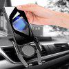 Universal Gravity Linkage Car Air Vent Mount Phone Holder Stand Auto Memory Bracket - SILVER