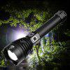 Asafee 1909 Super Bright XHP90 LED Bead 2500lm Telescopic Zoom Flashlight for Outdoor High Power Use - BLACK