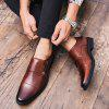 AILADUN Men's Large Size Pointed Toe Wiping Leather Shoes - BROWN