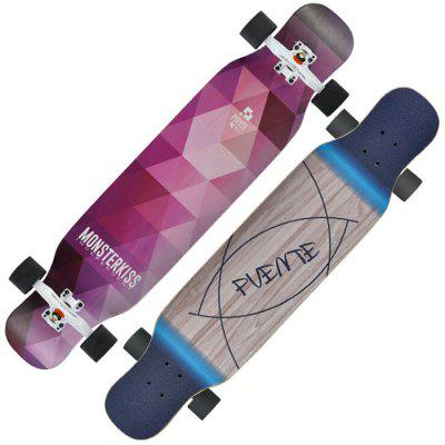 PUENTE XWB 42 inch 4 Wheels 8 Layers Maple Wood Skateboard Street Longboards for Teens Adults Beginners Girls Boys Kids
