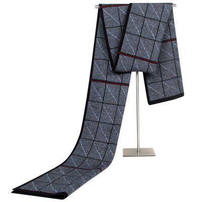 Autumn and Winter New Jacquard Knitted Student Scarf Middle-aged Male Imitated Cashmere Scarve