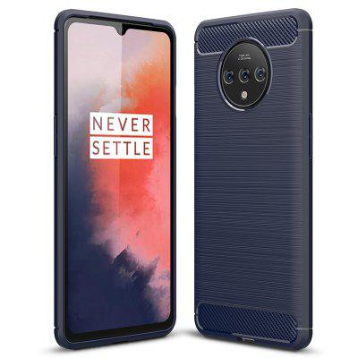 Naxtop Carbon Fiber Brushed TPU Soft Back Cover Fully Protected Phone Case for OnePlus 7T Pro / 7T