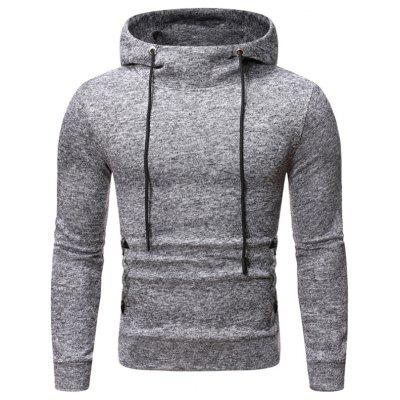 Men's Autumn and Winter Hoodie Fashion Knit Fabric Hooded Pullover Casual Sports Sweatshirt