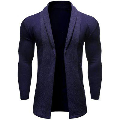 Lente en de herfst Men's Fashion Casual gebreide trui Solid Color Coat