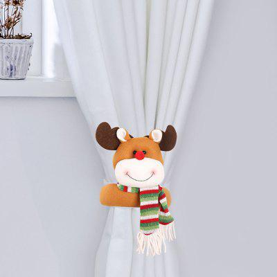 Creative Christmas Cartoon Curtain Buckle Snowman Santa Claus Elk dekorativní Item