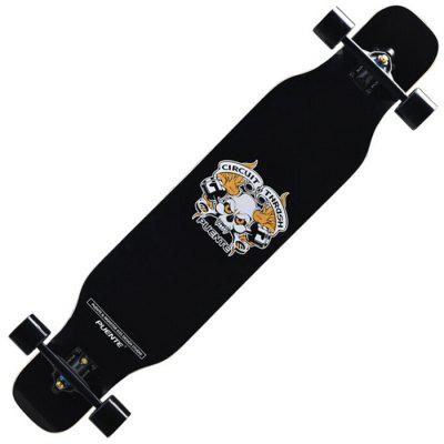 PUENTE 42 inch 4 Wheels 7 Layers Maple Wood Skateboard Street Longboards for Teens Adults Beginners Girls Boys Kids
