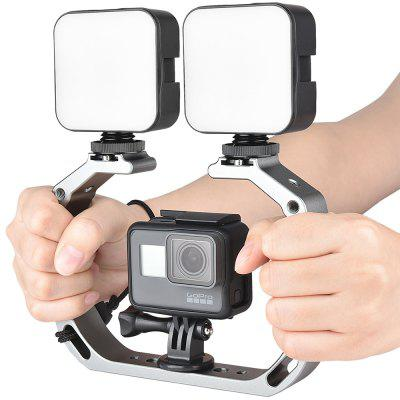 A63 Aluminium Handheld Stabilizer Camera Cage Gimbal 2-assige Rig for Action Camera