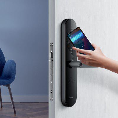 Gerenoveerde Aqara N100 Smart deurslot Fingerprint Bluetooth Password Unlock Works with Mijia HomeKit Smart Koppeling met deurbel functie (Xiaomi Ecosystem product)