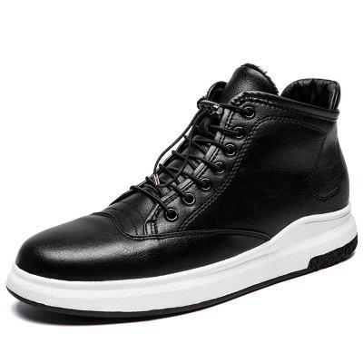 Autumn and Winter Men's High-top Leather Boots Non-slip Wear Resistant