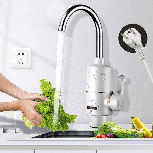 Instantaneous Heating Electric Faucet 360 Degrees Rotation Adjustable Water Heater EU Plug